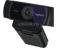 Web-камера LOGITECH Pro Stream C922, черный и черный