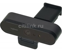 Web-камера LOGITECH Brio, черный и оранжевый