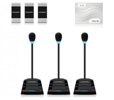 Stelberry SX-500 / 3 многоканальное переговорное устройство клиент-кассир