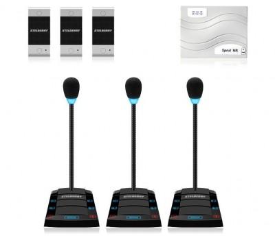Stelberry SX-410 / 3 многоканальное переговорное устройство клиент-кассир