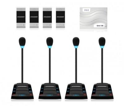 Stelberry SX-500 / 4 многоканальное переговорное устройство клиент-кассир