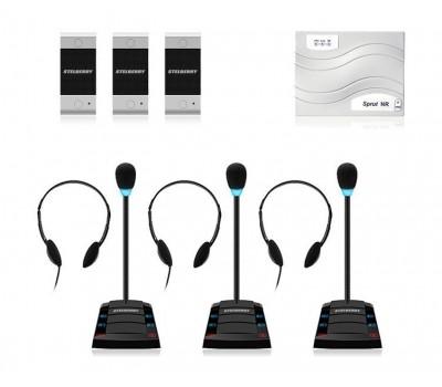 Stelberry SX-401 / 3 многоканальное переговорное устройство клиент-кассир