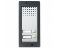 BPT HET/302 VR (62022100) 2-кнопочная вызывная панель TARGHA для подключения к внешней камере, вандалозащитная