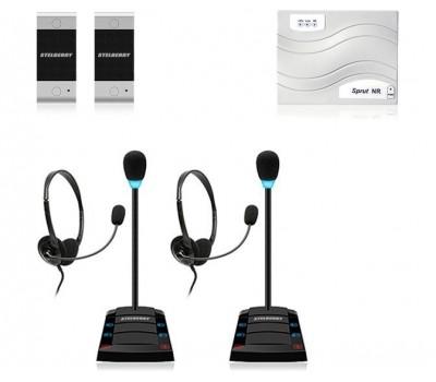 Stelberry SX-402 / 2 многоканальное переговорное устройство клиент-кассир