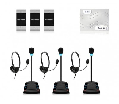 Stelberry SX-402 / 3 многоканальное переговорное устройство клиент-кассир