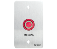 BAS-IP SH-45R SILVER пьезоэлектрическая кнопка выхода