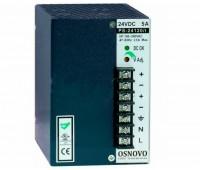 OSNOVO PS-24120/I блок питания 24 В, выходной ток 5А на DIN-рейку