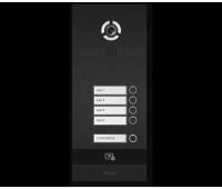 BAS-IP BI-04FB BLACK вызывная панель на 4 абонента