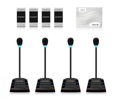 Stelberry SX-400 / 4 многоканальное переговорное устройство клиент-кассир