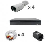 AHD-Master 4 №2 с кабелем 2 Мп комплект видеонаблюдения AHD формата