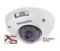 Beward B1510DMR 2.8 мм 1.3 Мп уличная купольная IP видеокамера с подсветкой до 8м, c PoE