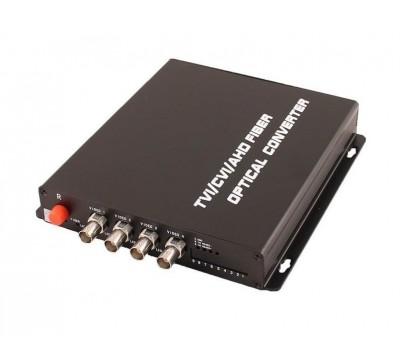 OSNOVO RA-H4/1F оптический приёмник 4 каналов видео HDCVI/HDTVI/AHD/CVBS по одномодовому оптоволокну