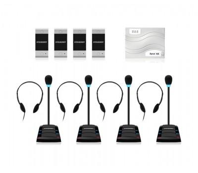 Stelberry SX-401 / 4 многоканальное переговорное устройство клиент-кассир