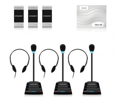 Stelberry SX-411 / 3 многоканальное переговорное устройство клиент-кассир