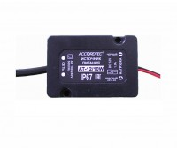 AccordTec АТ-12/10W блок питания 12 В, выходной ток 1А навесной