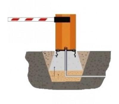 Монтаж шлагбаума с бетонированием основания (стрела более 5 м до 7 м)
