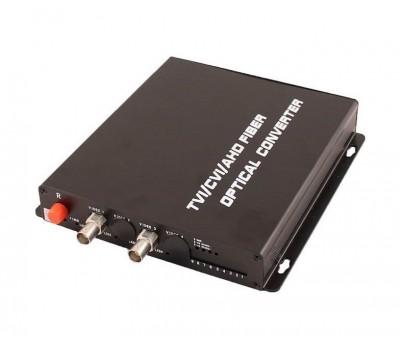 OSNOVO RA-H2/1F оптический приёмник 2 каналов видео HDCVI/HDTVI/AHD/CVBS по одномодовому оптоволокну