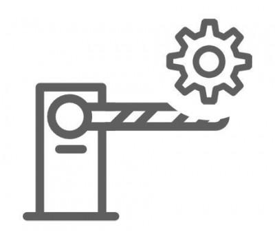 Монтаж шлагбаума без бетонирования основания (стрела до 5 м)