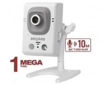 Beward B12CR 2.5 мм 1 Мп миниатюрная IP видеокамера с подсветкой до 8м