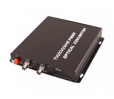 OSNOVO TA-H2/1F оптический передатчик 2 каналов видео HDCVI/HDTVI/AHD/CVBS по одномодовому оптоволокну