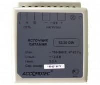 AccordTec АТ-12/30 DIN блок питания 12 В, выходной ток 3А на DIN-рейку